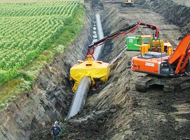 Gasleiding in de grond aanleggen